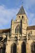 France, the historical church of Triel sur Seine