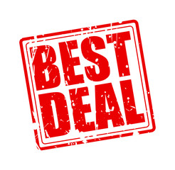 Best deal red stamp text