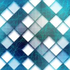 Geometric pattern with green lines