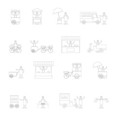 Street Food Icon Outline