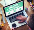 canvas print picture - Health Insurance Medical Wellness Business Concept