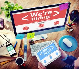 Businessman Recruitment Hiring Working Concept