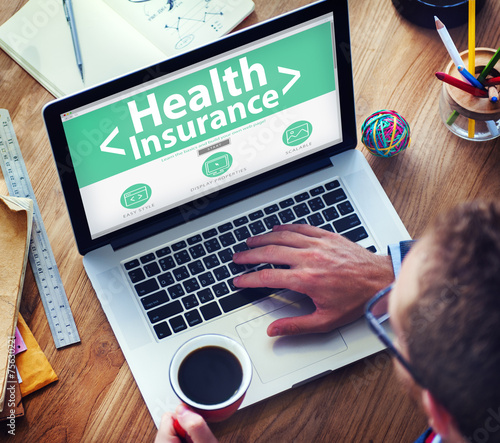 canvas print picture Health Insurance Medical Wellness Business Concept