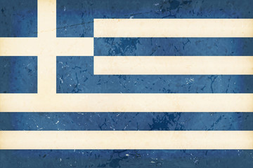 Flag of Greece with grunge element