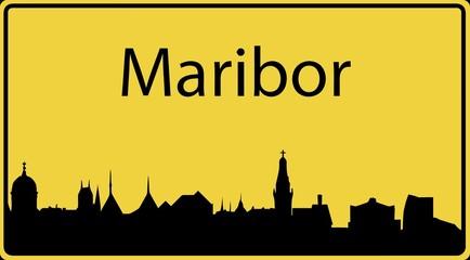 Ortsschild Maribor