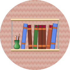 bookshelf with books2