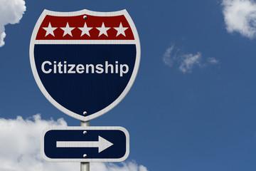 Citizenship this way sign