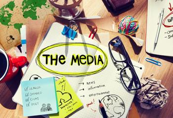 Media Entertainment Planning Information Ideas Office Concept