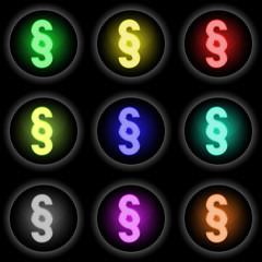 Button Glow 9er Paragraf (schwarz)