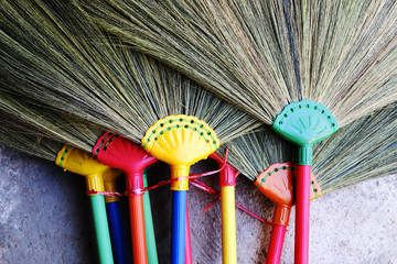 plastic handle broom