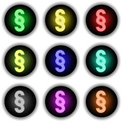 Button Glow 9er Paragraf (weiß)