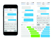 SmartPhone chatting sms template bubbles. Place your own text - 75633878