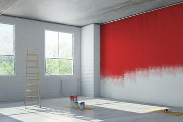 Rote Wand bei Renovierung