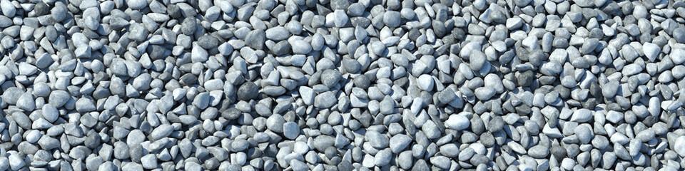 Hintergrund aus vielen Steinen im Panorama