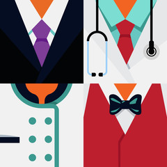 "4 Occupations ""Businessman, Doctor, Chef, Waiter"""