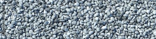 canvas print picture Hintergrund aus vielen Steinen im Panorama