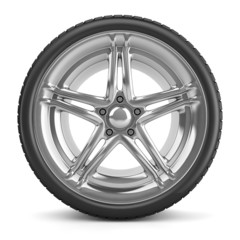 Car tyre isolated