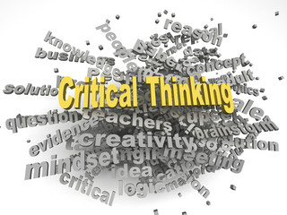 3d image critical thinking issues concept word cloud background