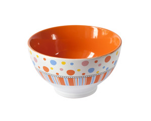 Colorful bowl on white background