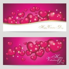2 Banner zum Valentinstag