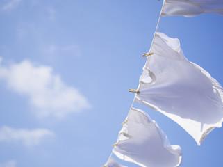 青空と洗濯物