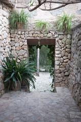 Drystone walled room Mallorca Spain.
