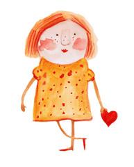 girl in plaid dress