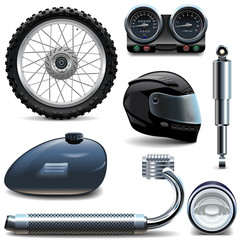 Vector Motorcycle Spares Icons