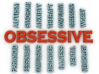 3d imagen Obsessive (OCD or Obsessive Compulsive Disorder)  issu