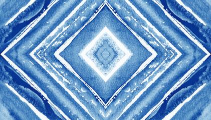 Abstract watercolor backdrop Rhombus