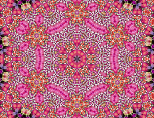 Love flowers mandala
