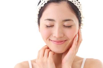 Asian woman skincare image