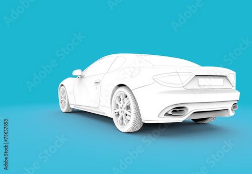 Back toon white car