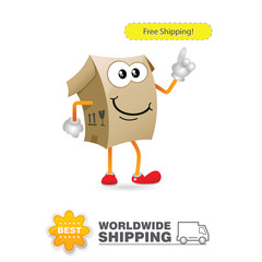 Delivery mascot. Shipping concept design vector.
