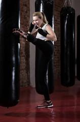 Kicking the punching bag