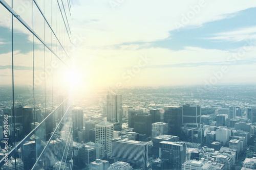 obraz PCV Nowoczesne widok na miasto