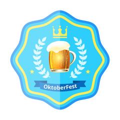 Oktoberfest beer badge
