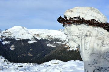 Trentino Dolomiti  Passo Rolle - Cristo pensante
