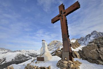 Trentino Dolomiti Passo Rolle - vetta del Cristo pensante