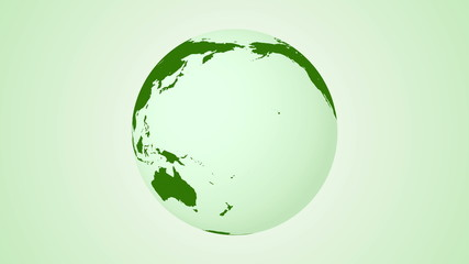 Green planet earth animation