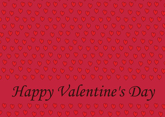 Happy Valentine's card. Vector. With seamless background