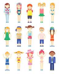 Various Smiling Boys and Girls Graphics