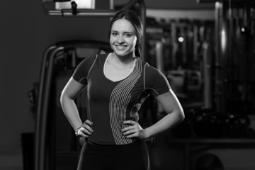 Young Cute Woman After Workout In Gym