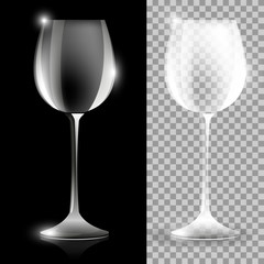 Two wine glass illustrations