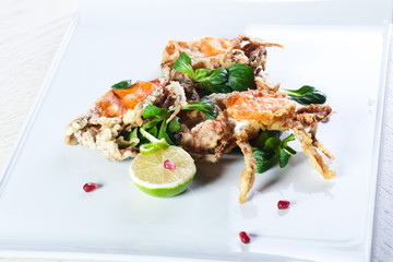 fried crab with cheese