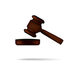 Gavel with shadow realistic