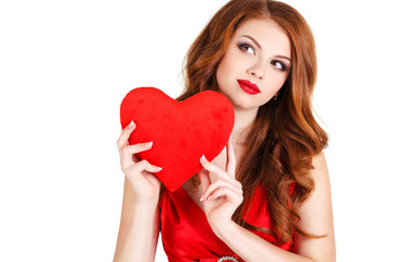Love and Valentine's Day - beautiful woman in the Day of Love.