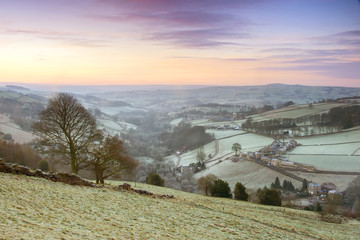 Frosty Yorkshire Winter Landscape