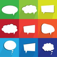 speech bubbles, comics, cloud, conversation