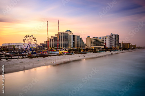 Daytona Beach, Florida, USA Beachfront Skyline - 75642024